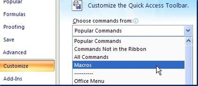 bill report choose commands